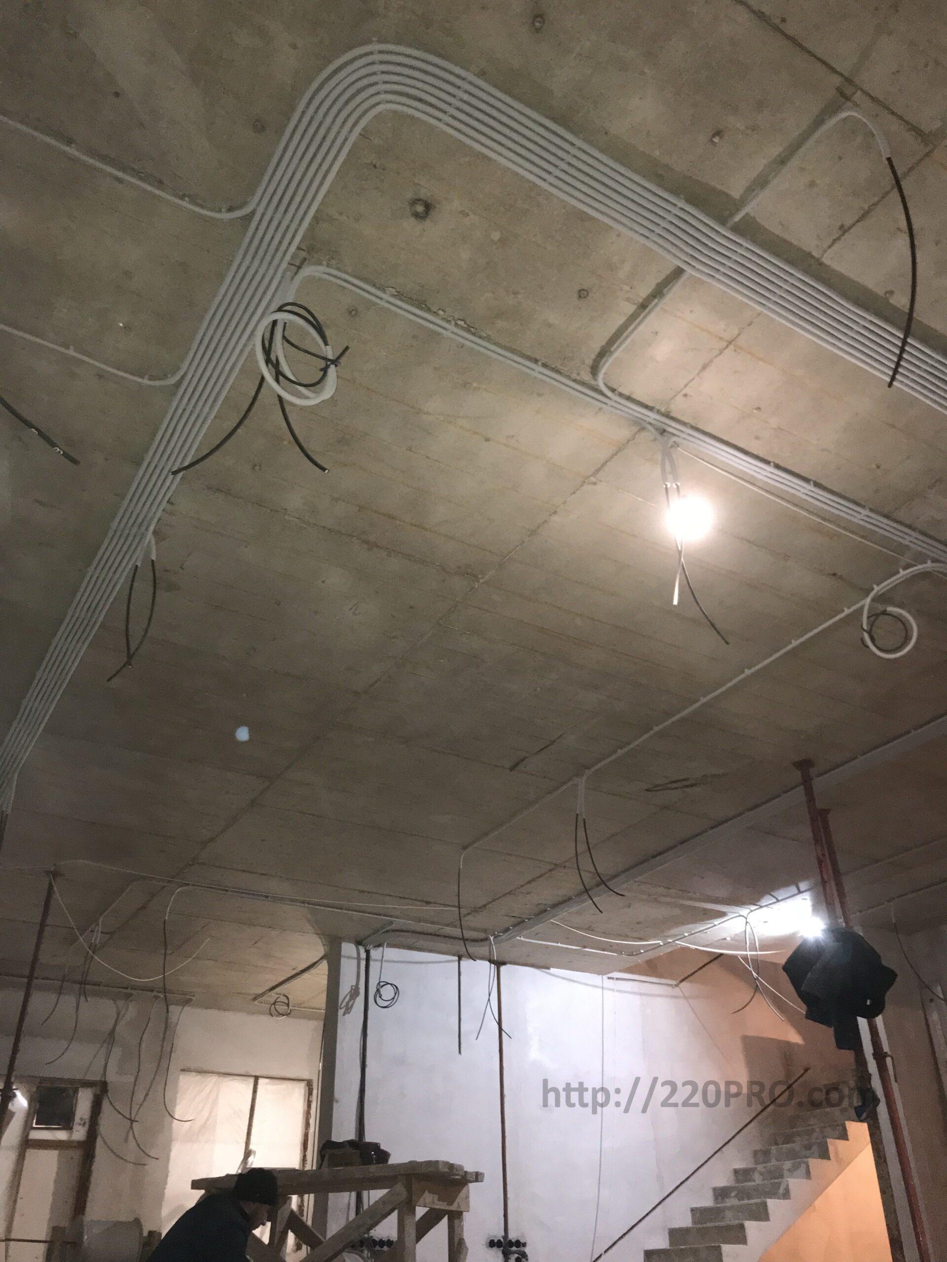 Электромонтажные работы частного дома по электропроекту