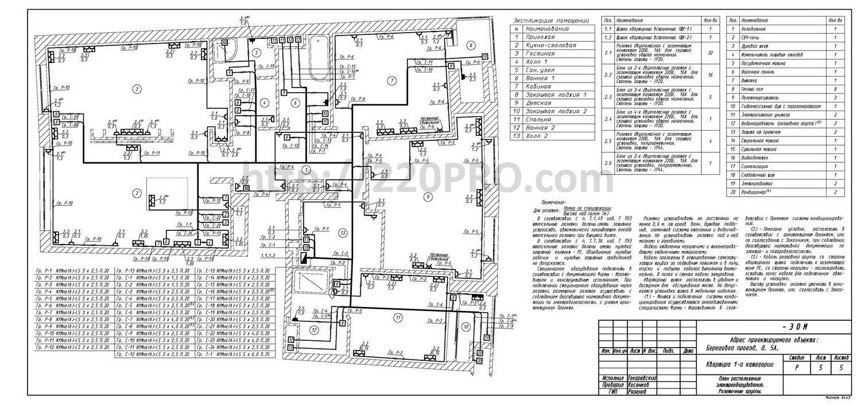 Электропроект квартиры в ЖК Фили Град