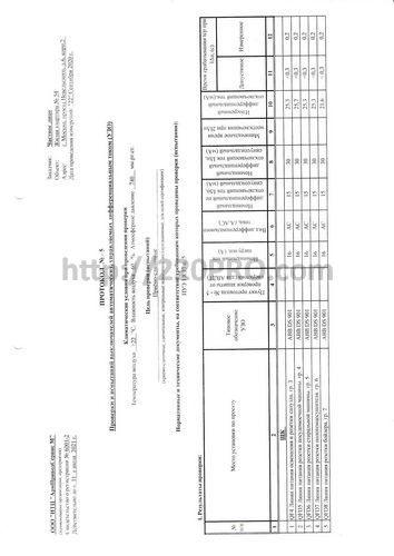 отчёт электролаборатории